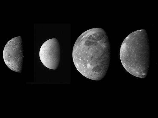Jupiter's Moons: Io, Europa, Ganymede, and Callisto