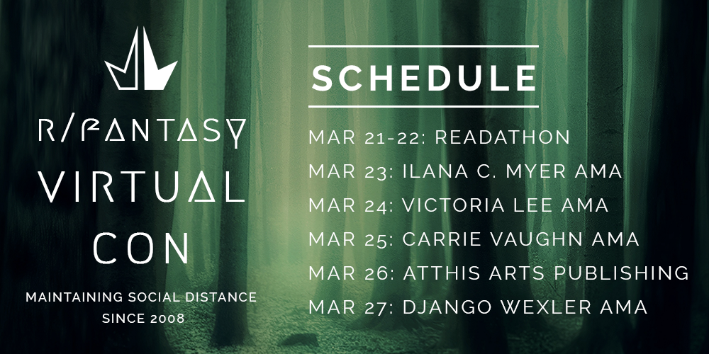 r/Fantasy Virtual Con schedule for March 21 - 27
